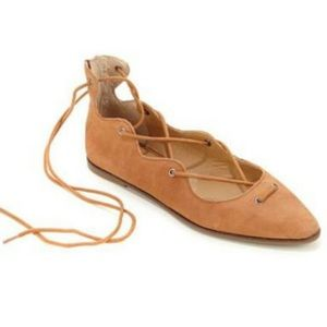 New Lucky Brand Leather Billoh Ghillie Lace Flats